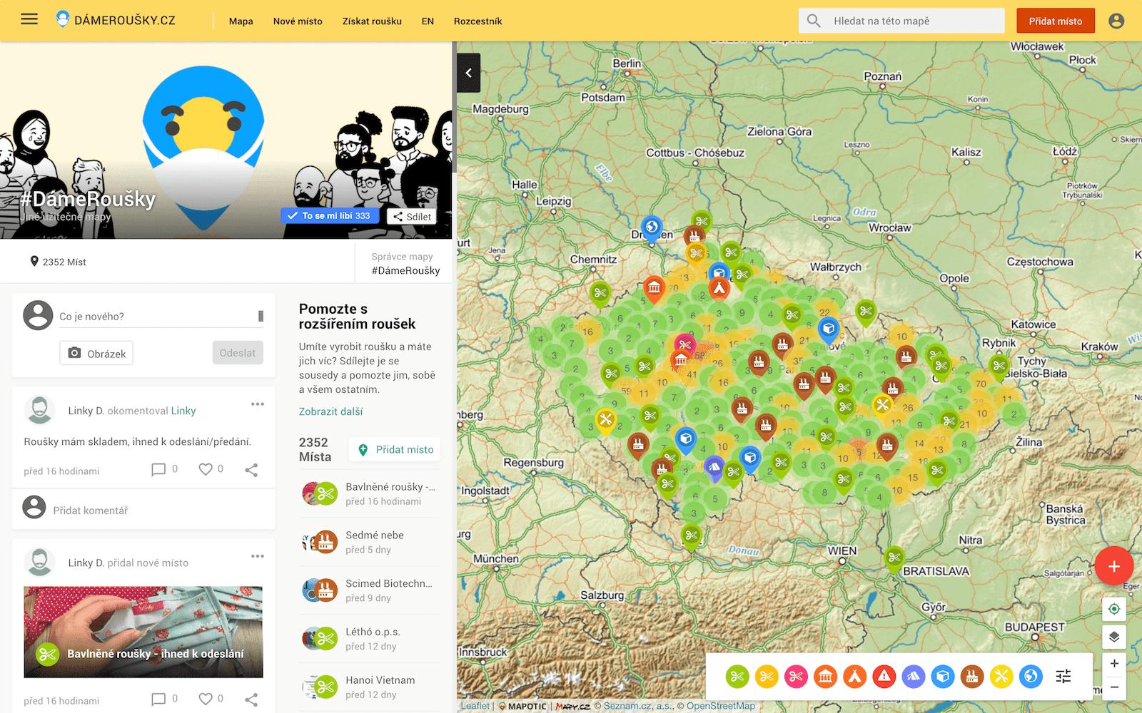 Damerousky mapa rousek