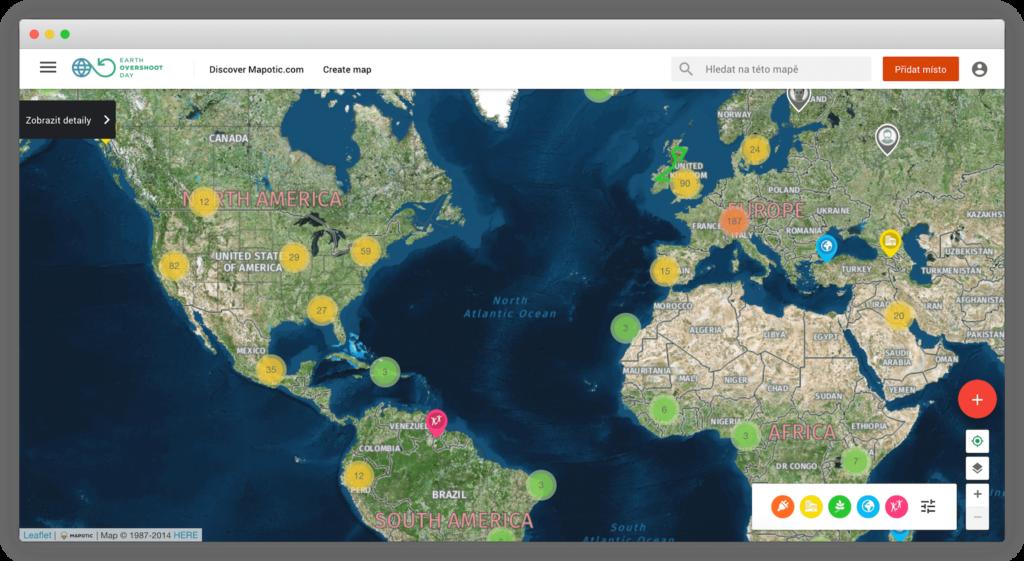 Interaktivní mapa přes celou obrazovku na vlastní doméně