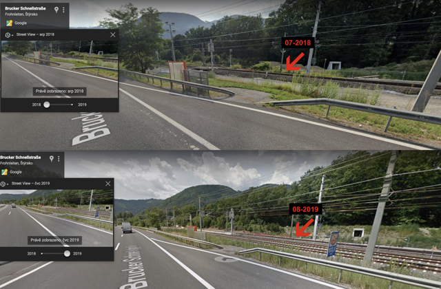 Google Street View - shows why tracking data is inaccurate